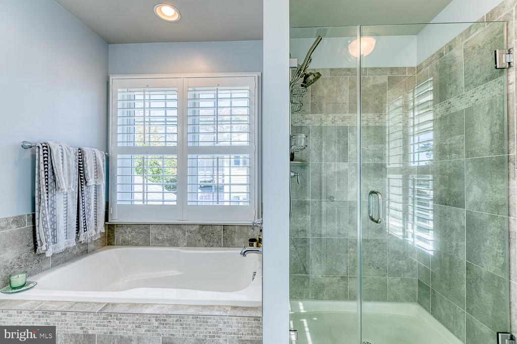 Spa Like Master Bath With Seamless Glass Doors - 1419 HANOVER ST, FREDERICKSBURG