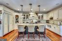 Gourmet Eat-In Kitchen and Island with seating - 4808 WHISKEY CT, IJAMSVILLE