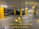 2 reserved parking spaces - level B1 near elevator - 11800 SUNSET HILLS RD #311, RESTON