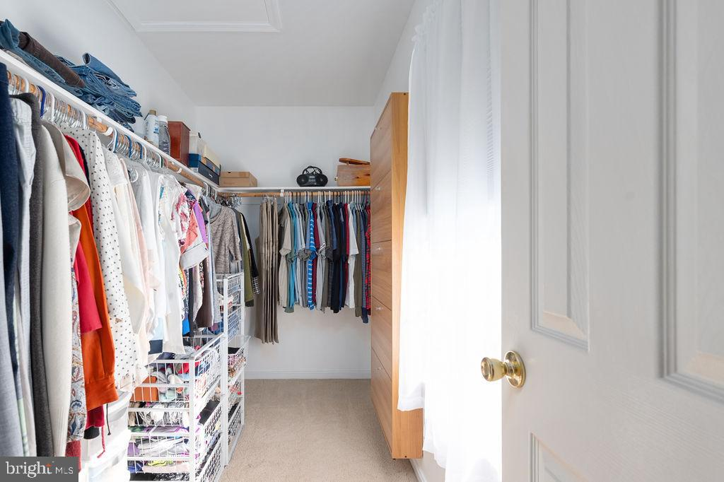 Master Bedroom Closet with built-in shelf - 67 CARDINAL FOREST DR, FREDERICKSBURG
