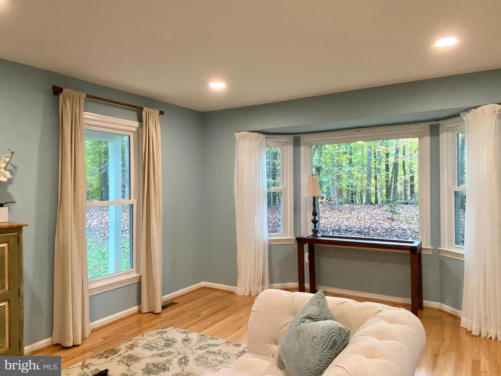 Spacious & airy freshly-painted L.R. w/hardwoods - 11798 TARGET CT, WOODBRIDGE