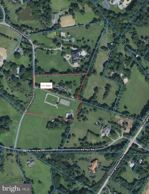 Current Aerial View of Lot - 9421 CORNWELL FARM DR, GREAT FALLS