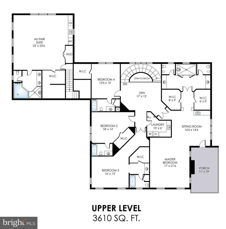 Upper Level Floorplan - 2479 OAKTON HILLS DR, OAKTON