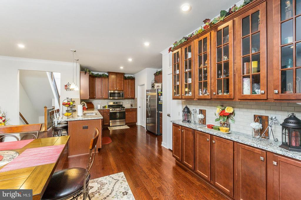 Dining Room and Kitchen with beautiful Hardwoods - 18228 RED MULBERRY RD, DUMFRIES