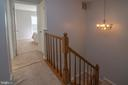 Hall way in upstairs. - 102 TWIN BROOK LN, STAFFORD