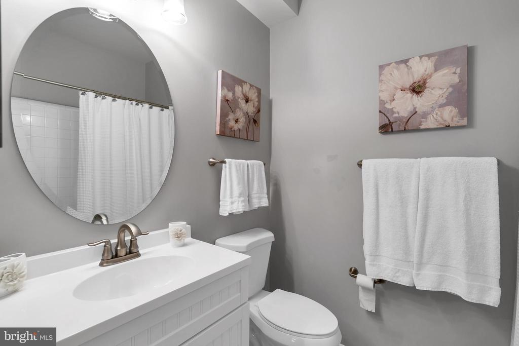 Lovely newer vanity, sink, counter & mirror - 42509 HOLLYHOCK TER, BRAMBLETON