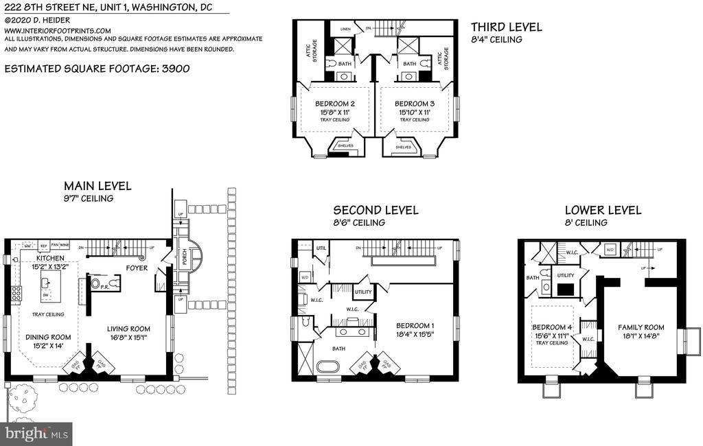 Floorplans - 216 8TH ST NE #1, WASHINGTON