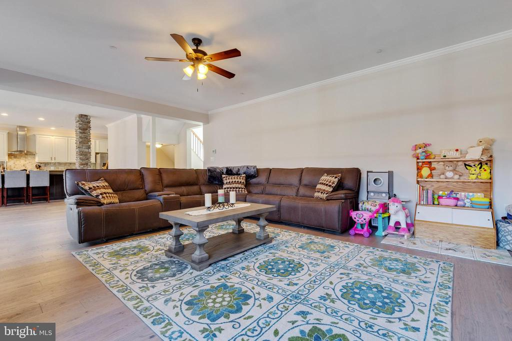 Family Room with Ceiling Fan - 14233 PARIS BREEZE PL, HILLSBORO