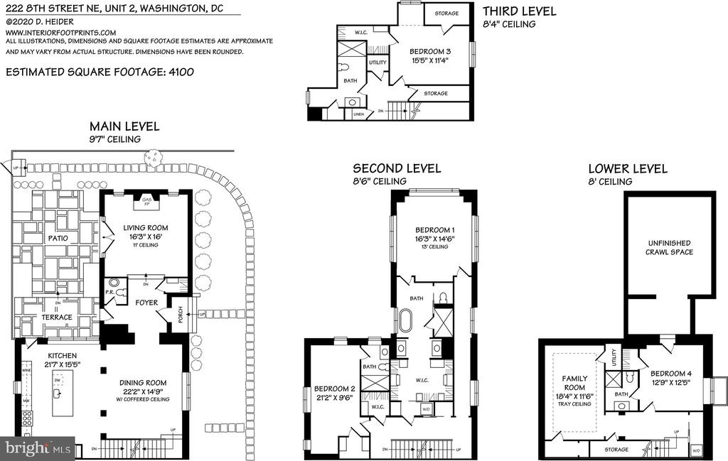 Floorplans - 216 8TH ST NE #B, WASHINGTON