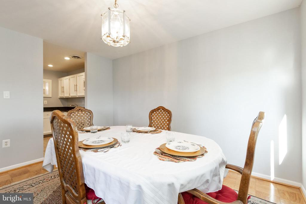 Nice size dining room - 200 N MAPLE AVE #607, FALLS CHURCH