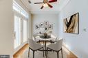 11 Dining virtually staged for space awareness - 309 HOLLAND LN #115, ALEXANDRIA