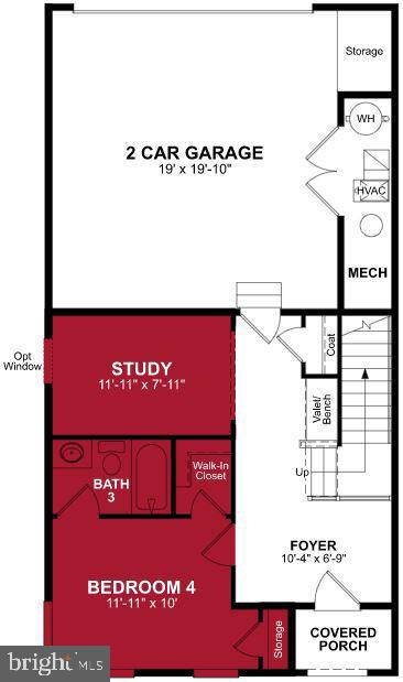 First Level Floor Plan - 17645 FALCON HEIGHTS ST, DUMFRIES