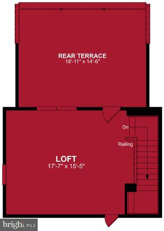 Fourth Level Floor Plan - 17645 FALCON HEIGHTS ST, DUMFRIES