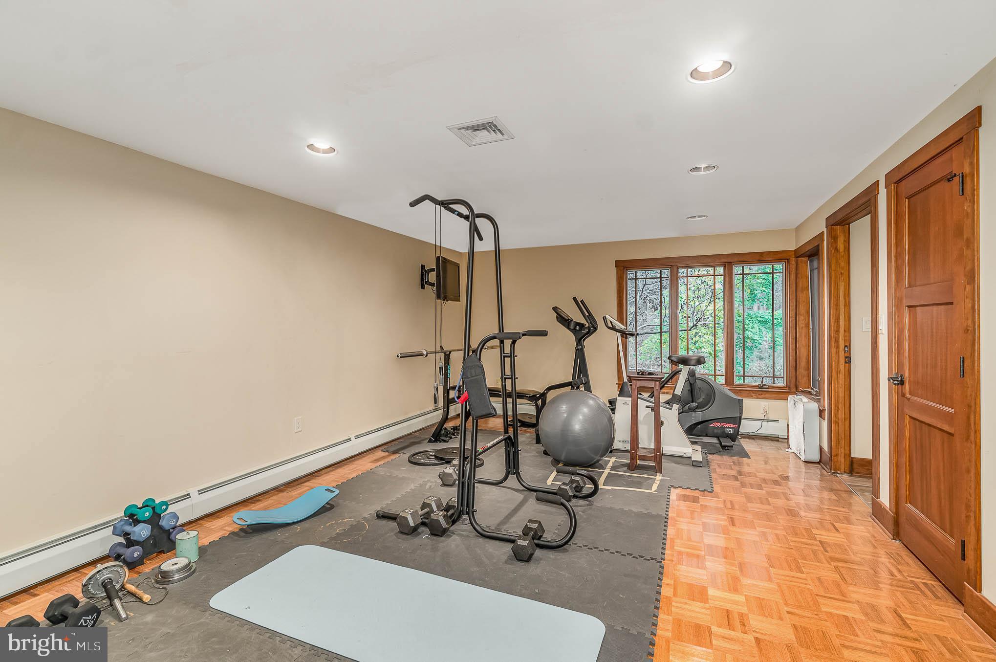 Lower level gym