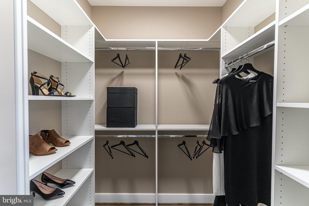 one of two Owners Bedroom closets - 611 SECOND, ALEXANDRIA