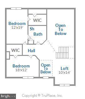 Upper Level Floor Plan - 18459 LANIER ISLAND SQ, LEESBURG