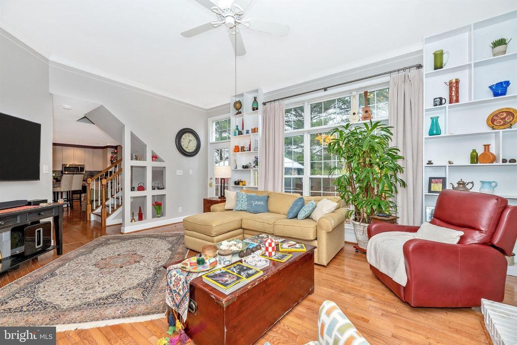 Amazing family room - large windows, built-ins. - 6287 IVERSON TER S, FREDERICK