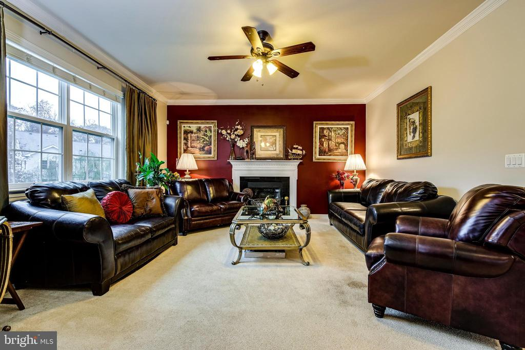 Family Room w/gas fireplace - 5408 BANTRY CT, WOODBRIDGE
