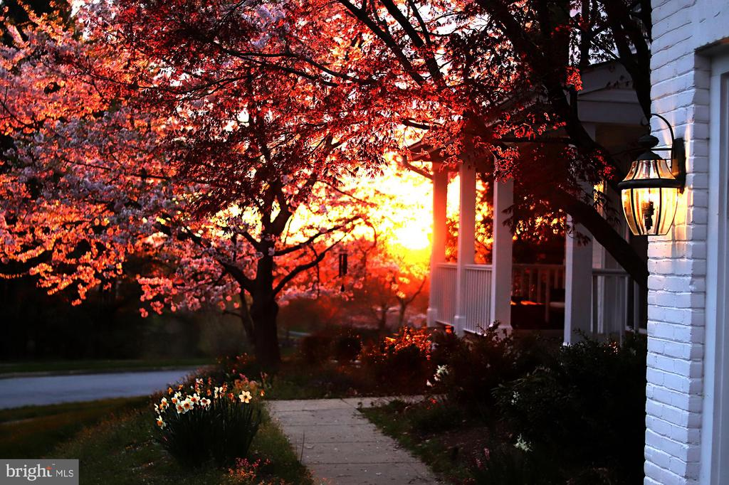 Seller shared image of front porch sunset! - 6287 IVERSON TER S, FREDERICK