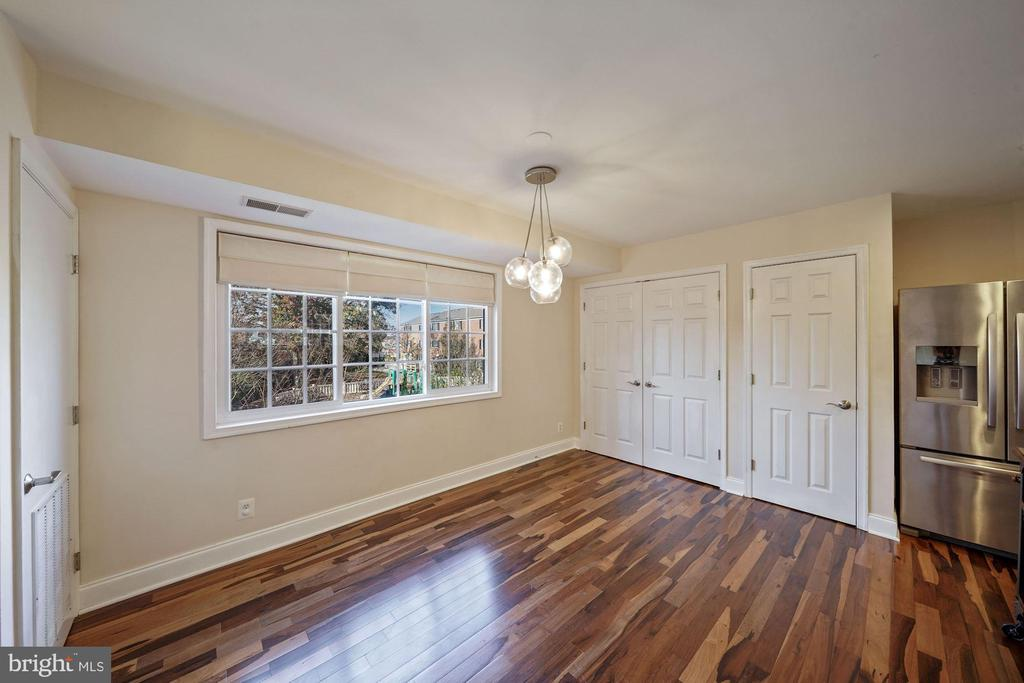 Dining area with lovely view - 1573 N VAN DORN ST #B, ALEXANDRIA