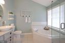 Frameless shower & custom tile floor - 43669 SCARLET SQ, CHANTILLY