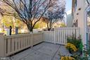 View of courtyard from patio - 1403 N VAN DORN #C, ALEXANDRIA