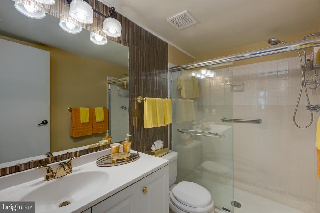 *Hallway bath shower with seamless sliding doors - 3031 BORGE ST #212, OAKTON
