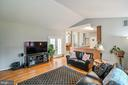 Family Room w/ Vaulted Ceiling - 5040 CANNON BLUFF DR, WOODBRIDGE