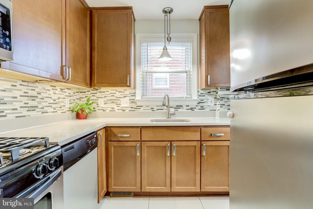 Stainless steel appliances and Quartz countertops - 501 S VEITCH ST, ARLINGTON