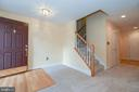 Entrance and finished lower level - 25811 MEWS TER, CHANTILLY