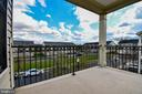 Upper level covered balcony off master bedroom - 25811 MEWS TER, CHANTILLY