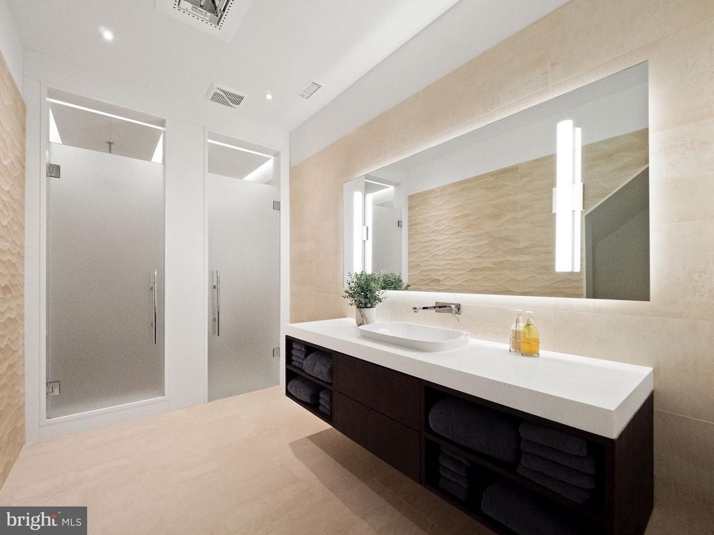 Contemporary Guest Bathroom - 6827 SORREL ST, MCLEAN