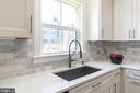See deck from large sink, gooseneck faucet, quartz - 3167 VIRGINIA BLUEBELL CT, FAIRFAX