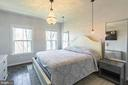 Primary bedroom with Restoration Hardware lighting - 3167 VIRGINIA BLUEBELL CT, FAIRFAX