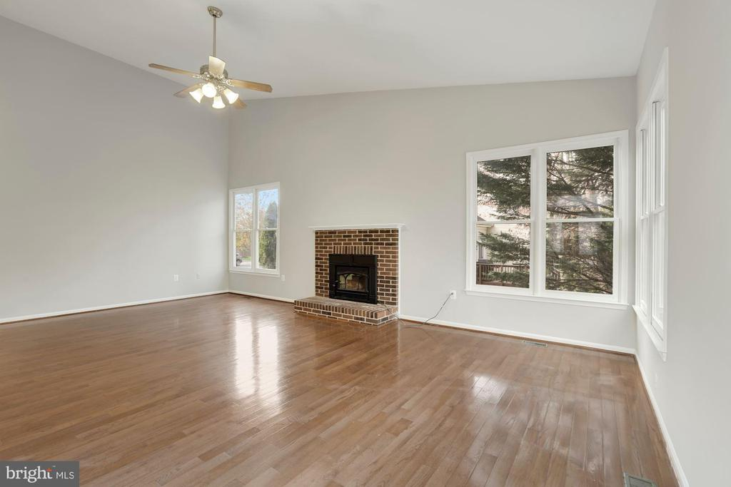Family Room with Vaulted Ceiling & Ceiling Fan - 47208 REDBARK PL, STERLING