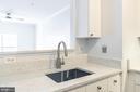 Brushed nickel pulldown faucet, New quartz counter - 11326 ARISTOTLE DR #4-303, FAIRFAX