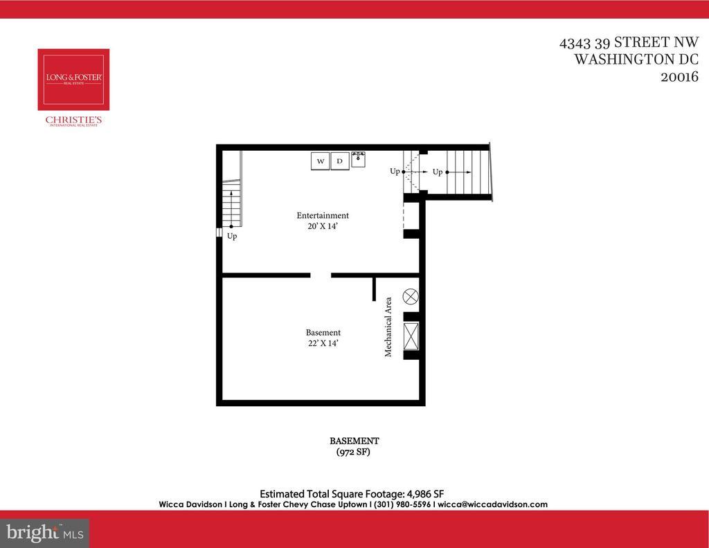 Basement, laundry,  wine spot - 4343 39TH ST NW, WASHINGTON