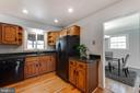 Recessed lighting for a light and bright kitchen - 10300 WOOD RD, FAIRFAX