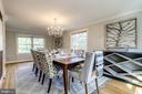 Crown molding & built-in cabinets in formal dining - 3412 ALABAMA AVE, ALEXANDRIA