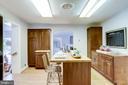 Kitchen with island & additional cabinet storage - 3412 ALABAMA AVE, ALEXANDRIA