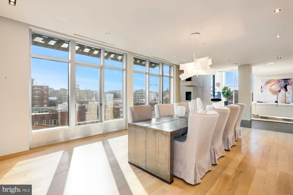 Floor to ceiling windows fill the space with light - 1515 15TH ST NW #708, WASHINGTON