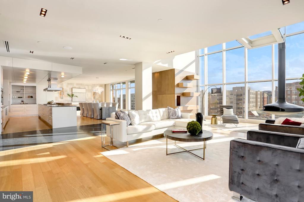 Spacious open floor plan - 1515 15TH ST NW #708, WASHINGTON