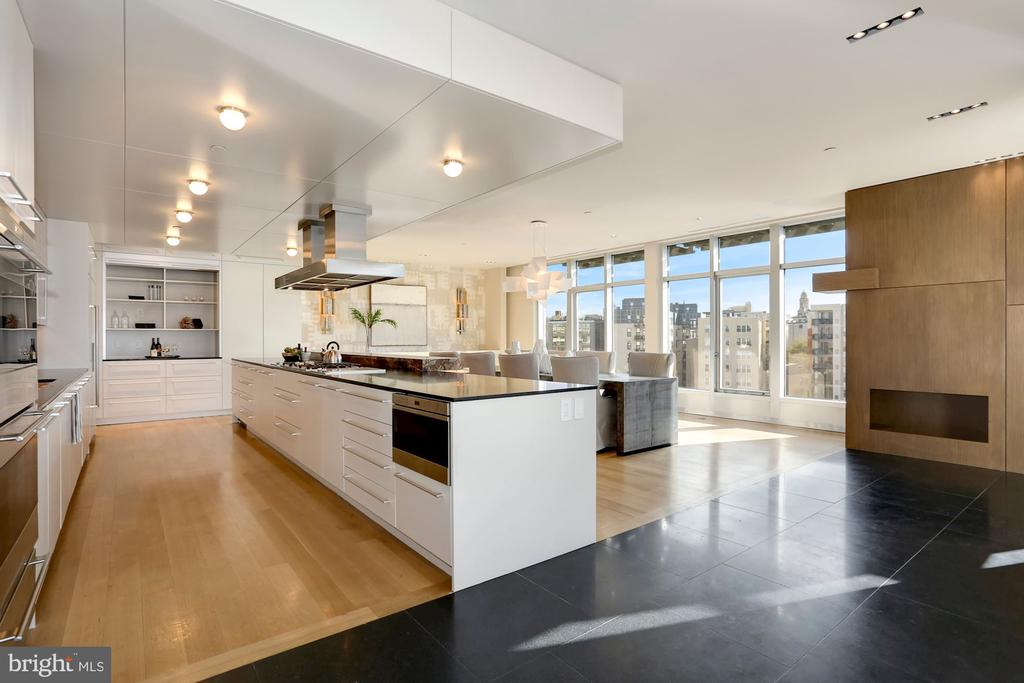 Gourmet kitchen with city views - 1515 15TH ST NW #708, WASHINGTON