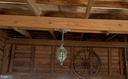 Porte cochere light and wagon wheel - 4343 39TH ST NW, WASHINGTON