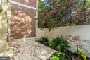 Back Patio with Garden - 11503 MAPLE RIDGE RD, RESTON