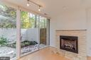 Gas fireplace w/stone front, marble hearth - 11503 MAPLE RIDGE RD, RESTON