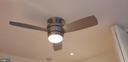 Modern SS fan with remote and light - 11503 MAPLE RIDGE RD, RESTON