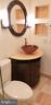 Modern raised bowl console, Toto toilet - 11503 MAPLE RIDGE RD, RESTON