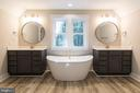Luxurious owner's bathroom. - 6789 ACCIPITER DR, NEW MARKET