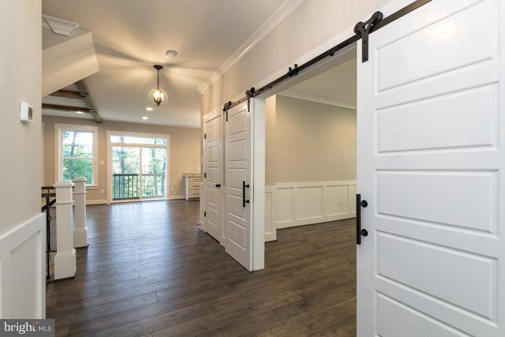 Exquisite details - barn doors to flex room. - 6789 ACCIPITER DR, NEW MARKET